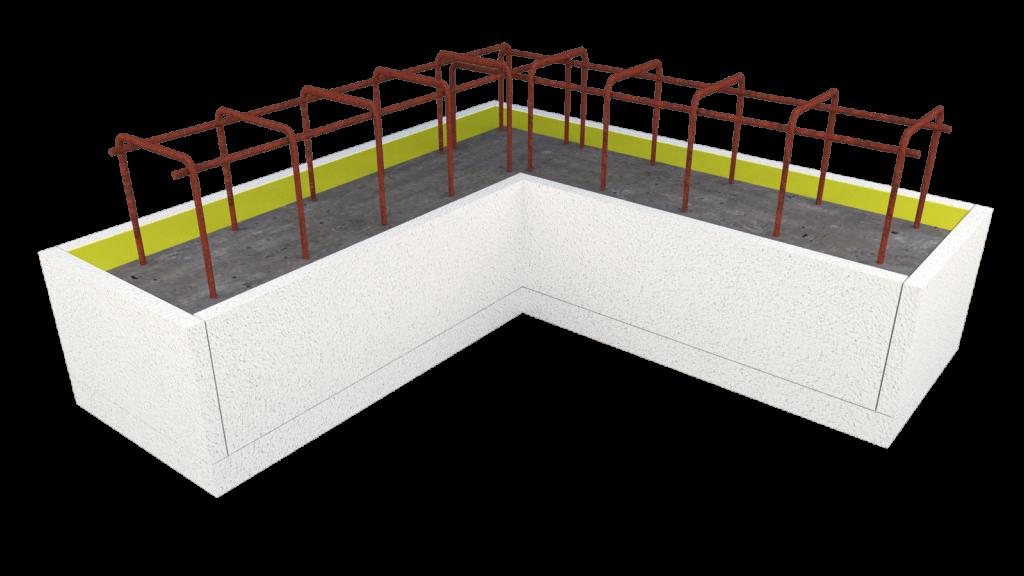 Cellenbeton Hoeklatei met Korf voor dragende muren