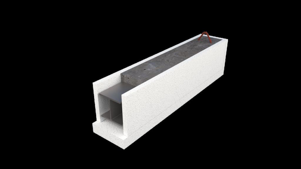 Cellenbeton Latei voor Buitenwand en Binnenwand met Stalen Balk IPE of HEA